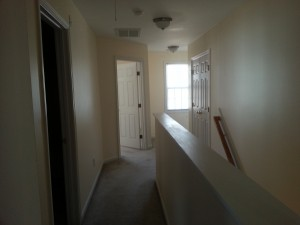 View of upstairs hallway