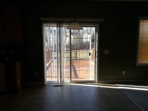 Back sliding doors